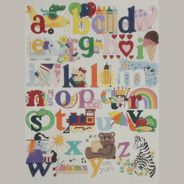 click here to view larger image of My First Alphabet (hand painted canvases)