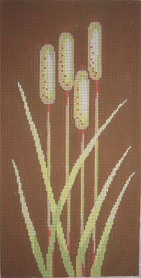 click here to view larger image of Cattails (hand painted canvases)