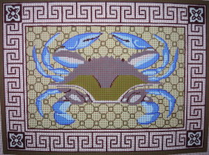 click here to view larger image of Blue Crab (hand painted canvases)