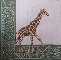 click here to view larger image of Giraffe with Border (hand painted canvases)