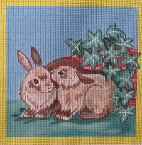 click here to view larger image of Love Bunnys - Two Bunnies (hand painted canvases)