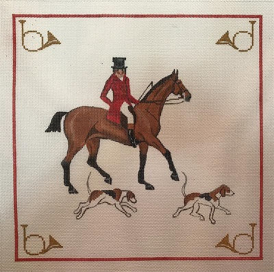 click here to view larger image of Old English Huntsman & Hound (hand painted canvases)