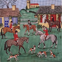click here to view larger image of The Meet At the Crown (hand painted canvases)