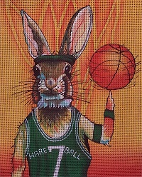 click here to view larger image of Hare Ball (hand painted canvases)