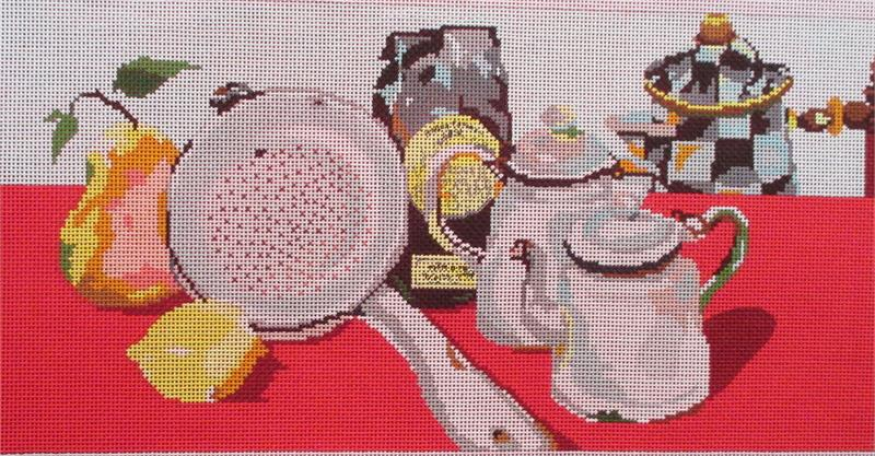 click here to view larger image of Coffee, Tea & Cream (hand painted canvases)