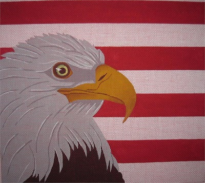 click here to view larger image of Eagle w/ Stripes (hand painted canvases)