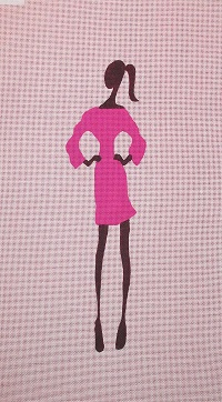 click here to view larger image of Fashion Girl in Pink (hand painted canvases)