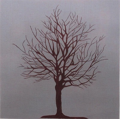 click here to view larger image of Tree on Grey (hand painted canvases)