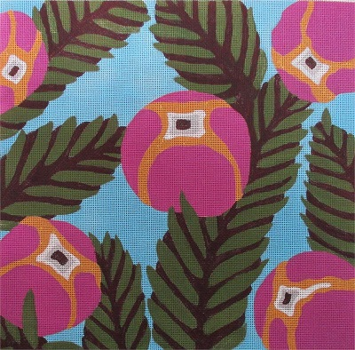 click here to view larger image of Palms & Flowers (hand painted canvases)
