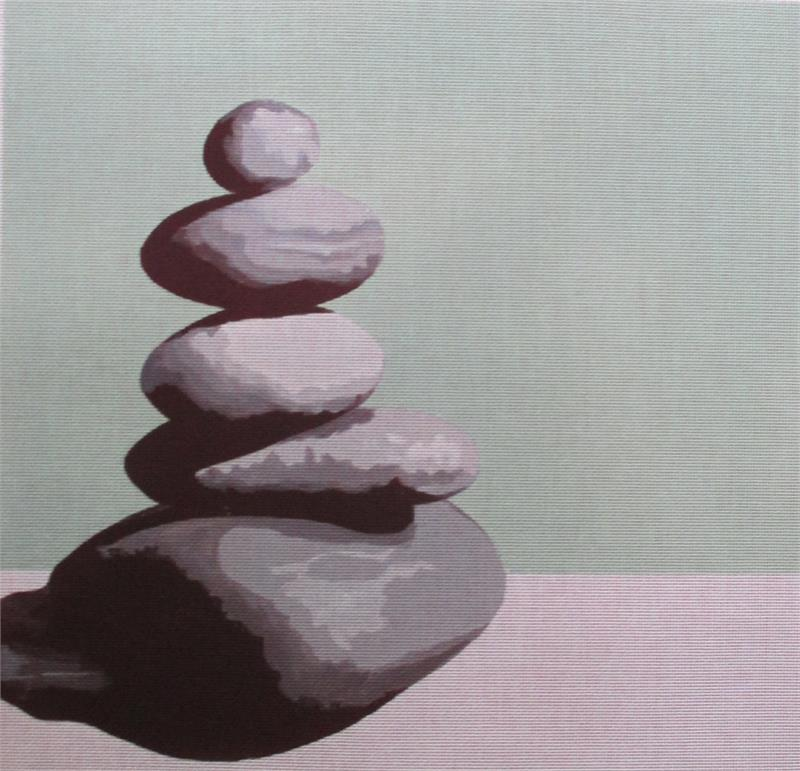 click here to view larger image of Zen Rocks (hand painted canvases)
