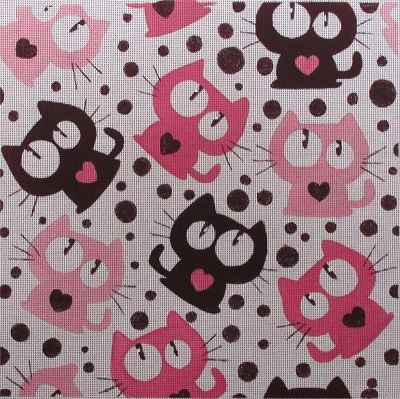 click here to view larger image of Heart Studded Crazy Cats (hand painted canvases)