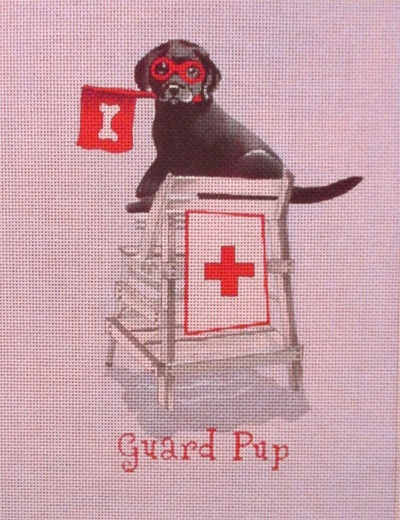 click here to view larger image of Guard Pup (hand painted canvases)