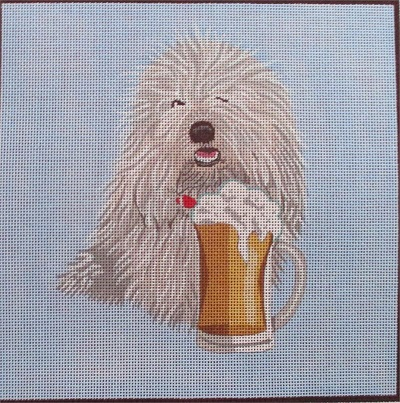 click here to view larger image of Man's Best Friend - Coton (hand painted canvases)