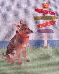 click here to view larger image of Lucky Dog German Shepherd (hand painted canvases)