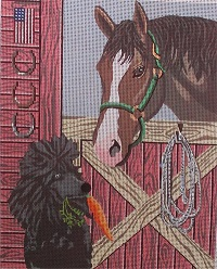 click here to view larger image of Happy Trails - Poodle (hand painted canvases)