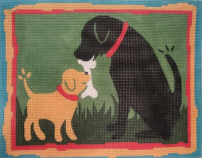 click here to view larger image of Lab Puppy & Black Lab (hand painted canvases)