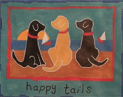 click here to view larger image of Happy Tails (hand painted canvases)