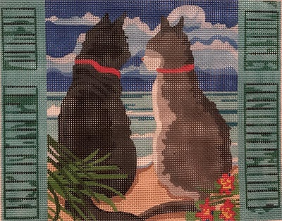click here to view larger image of Cats visiting the Sea (hand painted canvases)