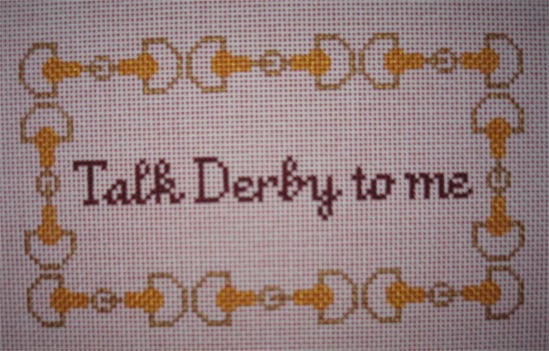 click here to view larger image of Talk Derby to Me (hand painted canvases)