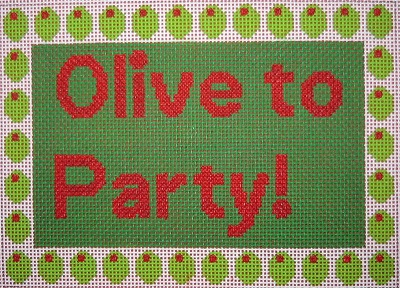 click here to view larger image of Olive to Party (hand painted canvases)