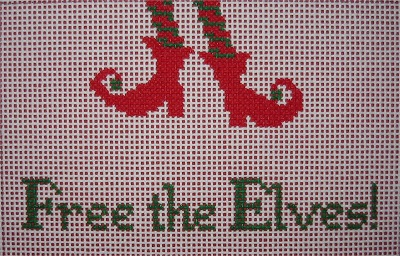 click here to view larger image of Free the Elves! (hand painted canvases)