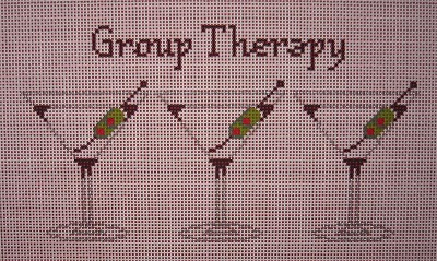 click here to view larger image of Group Therapy (hand painted canvases)