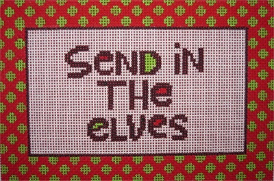 click here to view larger image of Send in the Elves (hand painted canvases)
