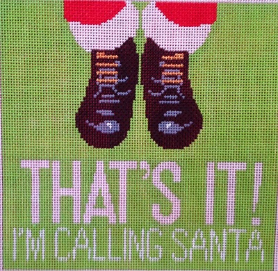 click here to view larger image of That's It, Calling Santa (hand painted canvases)