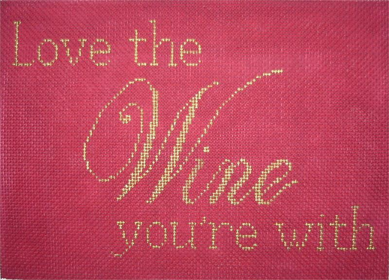 click here to view larger image of Love the Wine you're With (hand painted canvases)