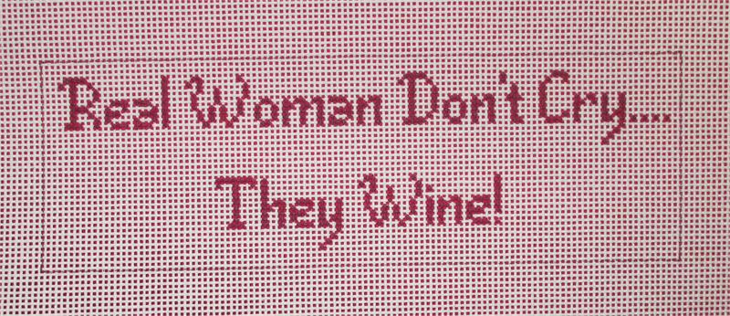click here to view larger image of Real Women Don't Cry - They Wine! (hand painted canvases)