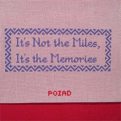 click here to view larger image of It's not the miles.... Memories (hand painted canvases)