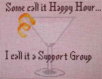 click here to view larger image of Some Call It Happy Hour - Support Group (hand painted canvases)