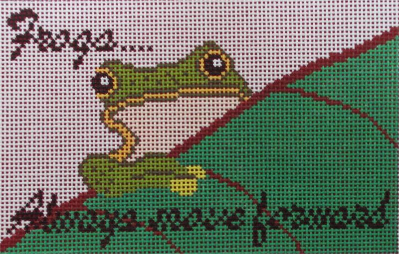 click here to view larger image of Frogs Always Move Forward (hand painted canvases)