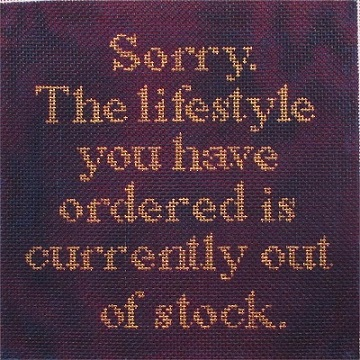 click here to view larger image of Sorry, Lifestyle Out of Stock (hand painted canvases)