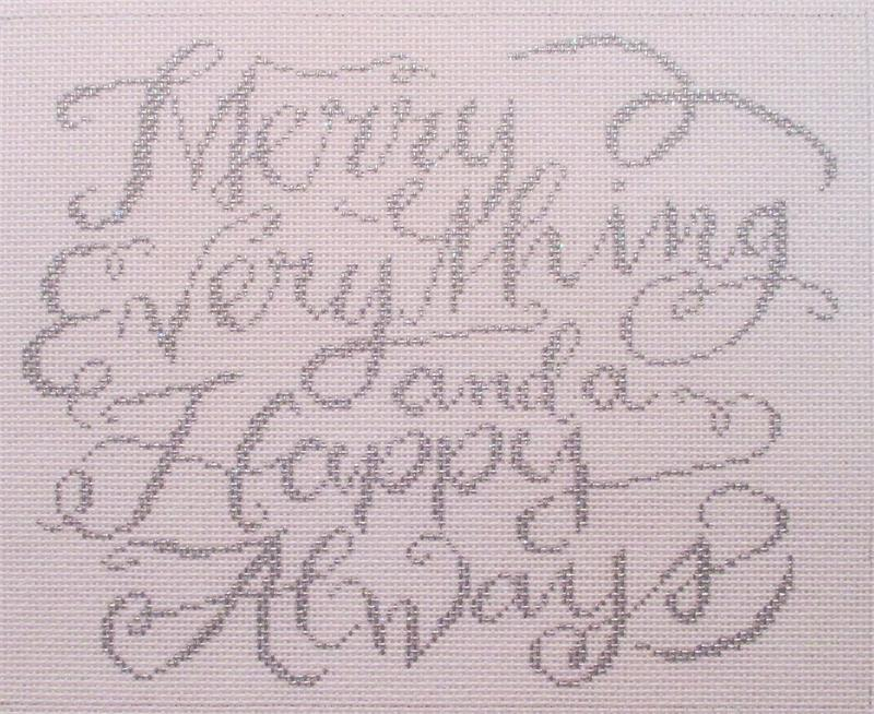 click here to view larger image of Merry Everything & Happy Always (hand painted canvases)
