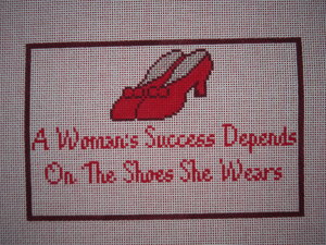 click here to view larger image of Woman's Success / Shoes (hand painted canvases)