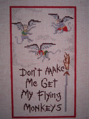click here to view larger image of Don't Make Me Get My Flying Monkeys (hand painted canvases)