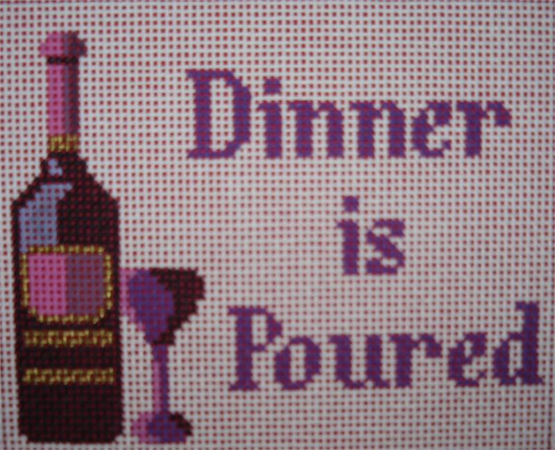 click here to view larger image of Dinner is Poured (hand painted canvases)