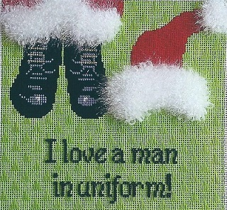 click here to view larger image of I love a man in uniform! (hand painted canvases)