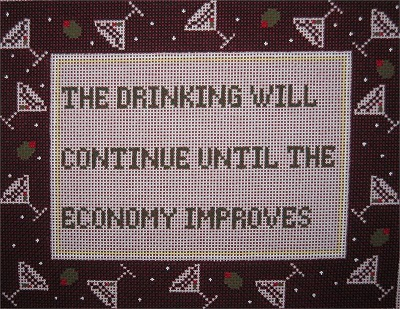 click here to view larger image of Drinking Will Continue (hand painted canvases)