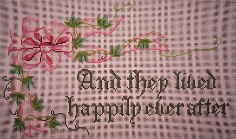 click here to view larger image of They Lived Happliy Ever After - Pink (hand painted canvases)