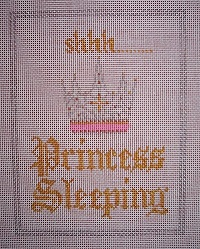 click here to view larger image of Shhh Princess Sleeping (hand painted canvases)