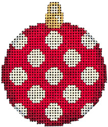 click here to view larger image of Red Coin Dot Mini Ball (hand painted canvases)