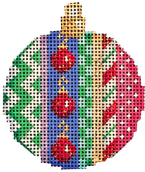 click here to view larger image of Ornament / Patterns Mini Ball (hand painted canvases)