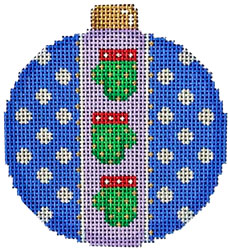 click here to view larger image of Mittens Dots Ball Ornament (hand painted canvases)