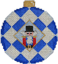 click here to view larger image of Nutcracker / Harlequin Ball Ornament (hand painted canvases)
