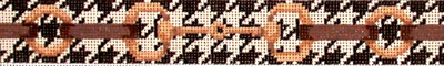 click here to view larger image of Bits On Houndstooth Belt (hand painted canvases)