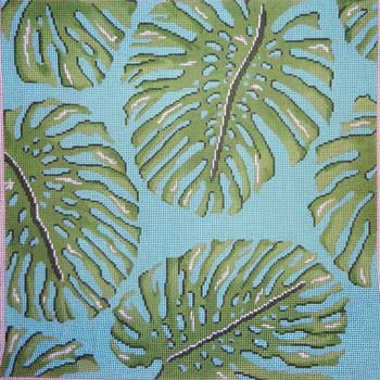 click here to view larger image of Palm Leaves (hand painted canvases)