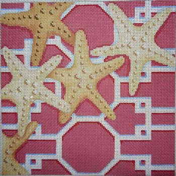 click here to view larger image of Starfish / Lattice (hand painted canvases)
