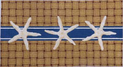 click here to view larger image of Starfish / Wicker Bolster (hand painted canvases)